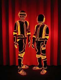 Glow Halloween Costume Daft Punk Halloween Costume Glow El Wire