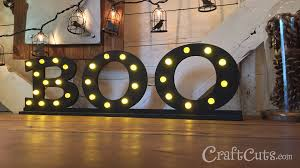 Diy Halloween Ornaments Diy Halloween Decor Lighted Boo Letters Youtube