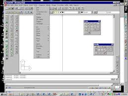 the autocad drawing screen
