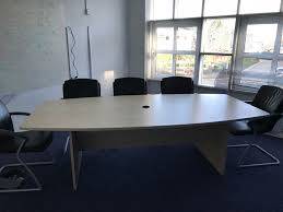 Barrel Shaped Boardroom Table Boat Shaped Meeting Table Recycled Business Furniture