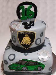 layers of love 16th birthday lamborghini cake