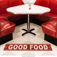good food vintage style floor decal floor stickers retroplanet com