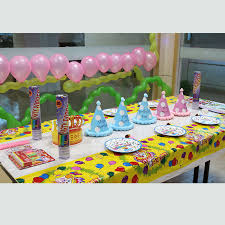 Party Table Covers Disposable Table Cloth Cartoon Happy Birthday Party Table Cover