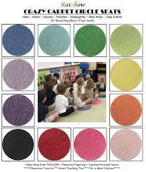 Daycare Rugs For Cheap Amazon Com 24 Seat Set Rainbow Crazy Carpet Circle Seats