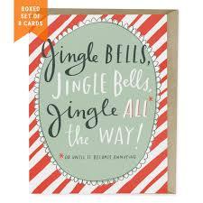 jingle bells holiday card box of 8 emily mcdowell studio