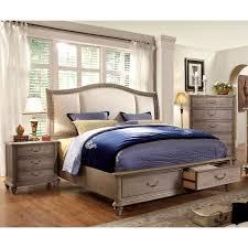 three piece bedroom set furniture of america minka iv rustic grey 3 piece bedroom set