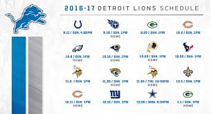 detroit lions 2016 schedule released