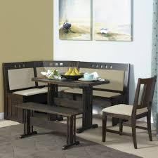brown walnut portable island with granite top l shaped dining room
