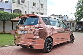 range rover rose gold maruti suzuki ertiga modified kitup rose gold wrap rear rear