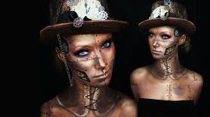 gold halloween makeup steampunk makeup tutorial request youtube