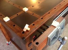 eric u0027s stylish workbench assembly table the wood whisperer