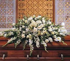 casket spray deluxe white casket spray casket standing sprays