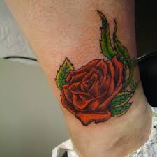 cute rose tattoo 5 rose ankle tattoo on tattoochief com