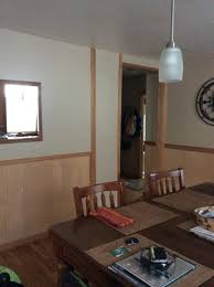 paint wood beadboard or just change the wall color