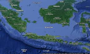 where was airasia flight qz 8051 found karimata strait map shows