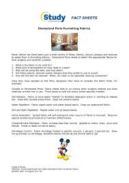 how to select sheets study experiences fact sheet disneyland paris furnishing fabrics