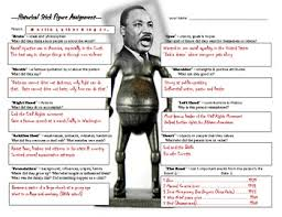biography for martin luther king martin luther king jr historical stick figure mini biography tpt