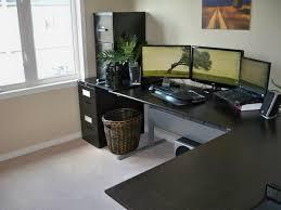 z line belaire l shaped glass top computer desk in black best