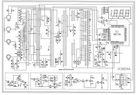 multimeter dt9208 sch service manual free download schematics