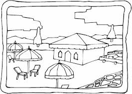 beach scene coloring pages getcoloringpages beach scene