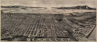 Map Berkeley Birdseye View Of Berkeley California 1909