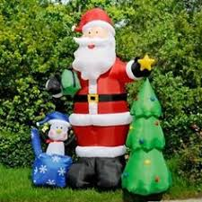 Christmas Decorations Outdoor Animated by 8ft Inflatable Easter Bunny On Ladder Inflatables Pinterest
