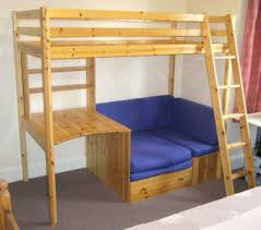 High Sleeper With Futon Popsike Thuka High Sleeper Bunk Bed With Desk Shelves