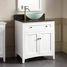 Halifax Vessel Sink Vanity White Bathroom - Bathroom vanity for vessel sink 2