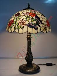 Louis Comfort Tiffany Lamp Peony And Butterfly Tiffany Lamp Tiffany Lamps And Stained Glass