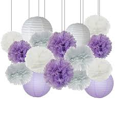 lavender baby shower elephant baby shower decorations 16 pcs white lavender