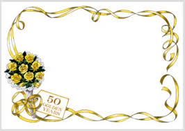 Golden Wedding Invitation Cards 50 Wedding Anniversary Cards Pinterest