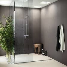 Bamboo Shower Floor Porcelain Stoneware Wall Floor Tiles With Concrete Effect Foster
