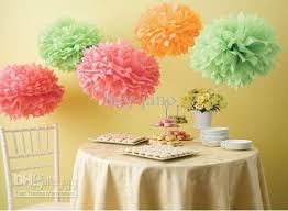 Yellow Pom Pom Flowers - 2017 14 tissue paper pom poms hanging flower balls wedding party