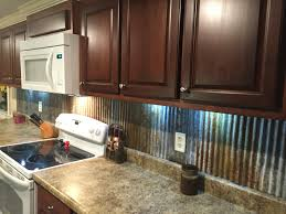 Tin Tiles For Backsplash In Kitchen Rustic Backsplash From Reclaimed Tin Roofing My Work Pinterest