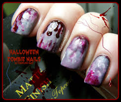 halloween nail art zombie nails pointless cafe