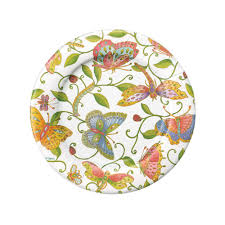 Wicker Paper Plate Holders Wholesale Parvaneh U0027s Garden Paper Salad U0026 Dessert Plates 8 Per Package