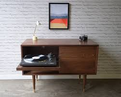 Record Player Storage Whitewater Record Cabinet With Pull Out Shelf Solid Walnut