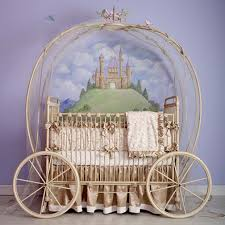 unique baby nursery decor with carriage cinderella bed for baby