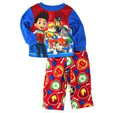 paw patrol toddler blue fleece pajamas 2t clothing