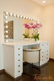 Modern Vanity Table Makeup Vanity Table With Lights Foter