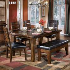 cherry dining room furniture dinning wood dining table with bench and chairs white and cherry
