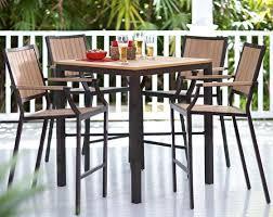 Patio Table Bar Height Santa Rosa 5 Bar Height Set Dining Furniture Outdoor
