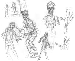 zombie character design sketches u2014 stan winston of