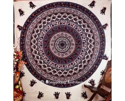 blue and white bohemian tapestry curtains 2411059 weddbook