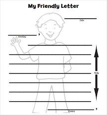 friendly letter format letter format for kids printable sample