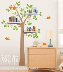 Tree Wall Decal For Nursery Shelves Tree Decal Children Wall Decal Shelf Tree Wall Decal For