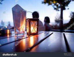 Dinner Table Mediterranean Restaurant Table Dinner Table Outdoors Stock Photo