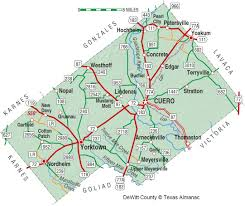 Texas State Park Map by Dewitt County The Handbook Of Texas Online Texas State