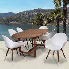 All Modern Outdoor Furniture by 1600 Found It At Allmodern Milland Extendable Patio 9 Piece