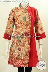 desain baju batik halus baju batik kombinasi yang keren dan blus batik trendy pakaian batik